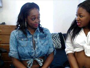 Schwarze Mädchen Gesicht lecken